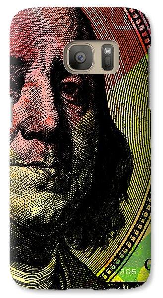 Galaxy Case featuring the digital art Benjamin Franklin - $100 Bill by Jean luc Comperat