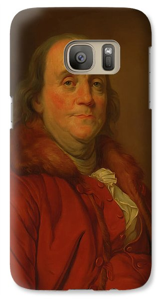Galaxy Case featuring the painting Benjamin Franklin by Workshop Of Joseph Duplessis