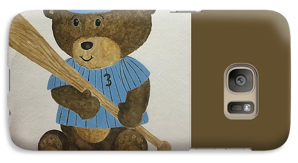 Galaxy Case featuring the painting Benny Bear Baseball by Tamir Barkan