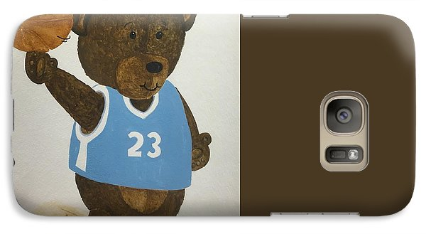 Galaxy Case featuring the painting Benny Bear Basketball  by Tamir Barkan