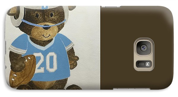 Galaxy Case featuring the painting Benny Bear Football by Tamir Barkan