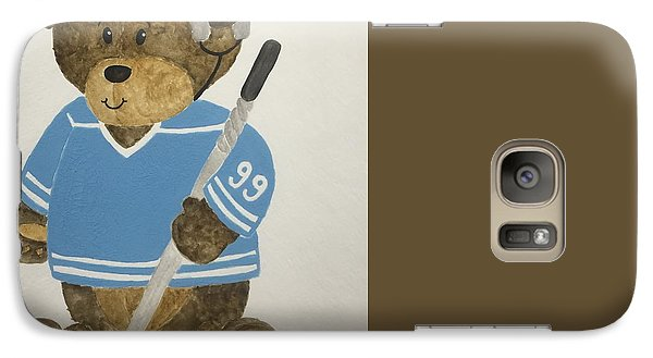 Galaxy Case featuring the painting Benny Bear Hockey by Tamir Barkan