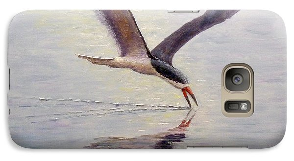 Galaxy Case featuring the painting Black Skimmer by Joe Bergholm