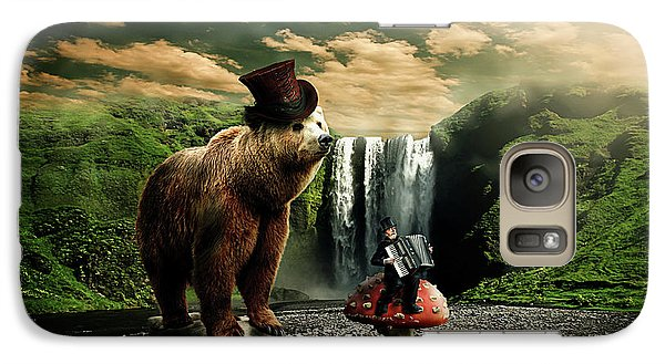 Galaxy Case featuring the digital art Berlin Bear by Nathan Wright