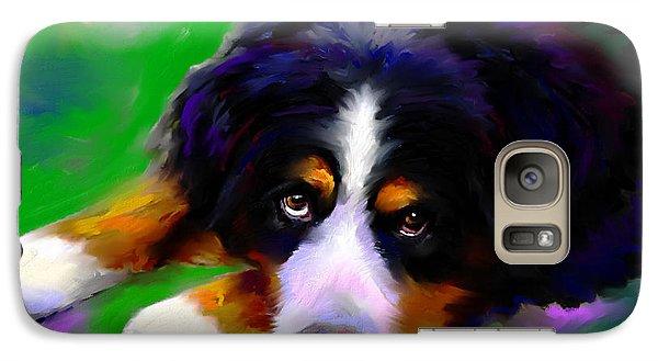 Bernese Mountain Dog Portrait Print Galaxy S7 Case