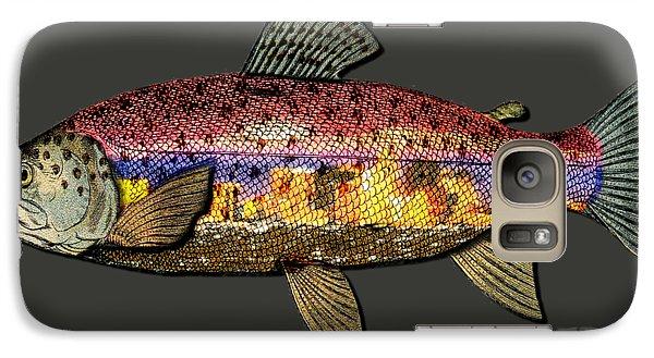 Galaxy Case featuring the digital art Fishing - Best Caught Wild-on Dark by Elaine Ossipov