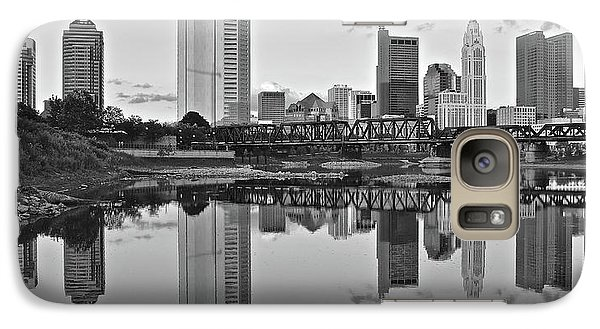 Galaxy Case featuring the photograph Best Columbus Black And White by Frozen in Time Fine Art Photography