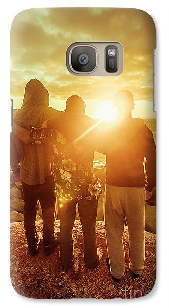 Galaxy Case featuring the photograph Best Friends Greeting The Sun by Jorgo Photography - Wall Art Gallery
