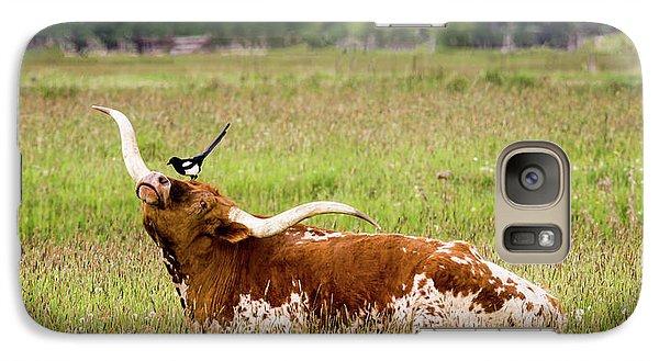 Best Friends - Texas Longhorn Magpie Galaxy S7 Case