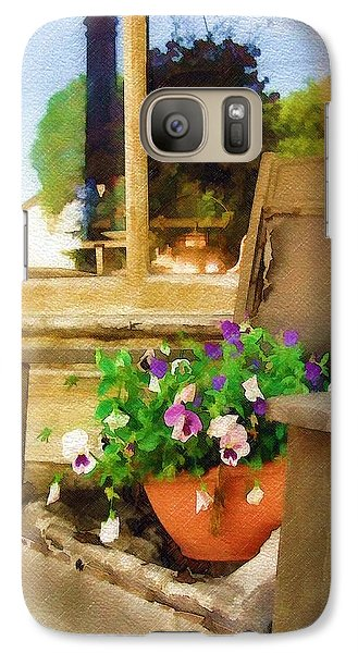 Galaxy Case featuring the photograph Best Seat In The House by Sandy MacGowan