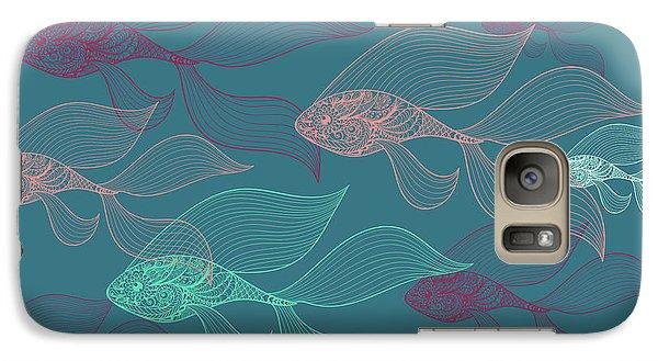 Beta Fish  Galaxy S7 Case by Mark Ashkenazi