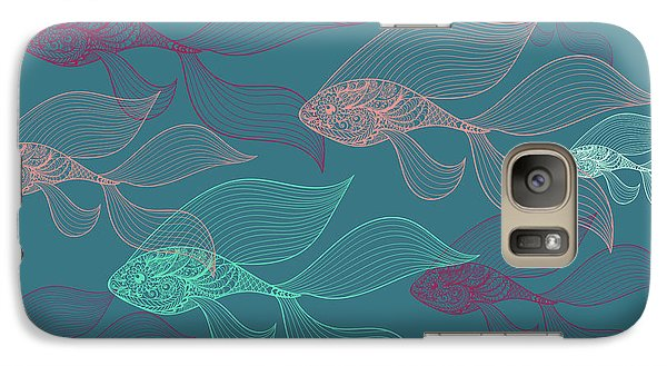 Beta Fish  Galaxy Case by Mark Ashkenazi
