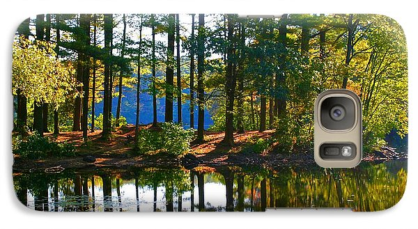 Galaxy Case featuring the photograph Bethel Homeschooling Hike by Polly Castor