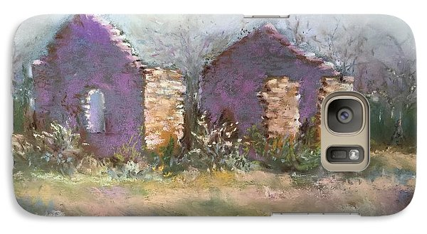 Galaxy Case featuring the pastel Bethel School At Sunset by Rebecca Matthews