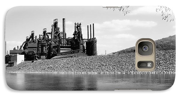 Galaxy Case featuring the photograph Bethlehem Steel by Michael Dorn
