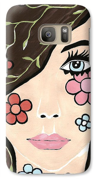 Galaxy Case featuring the painting Betty by Kathleen Sartoris