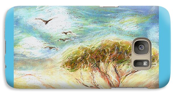 Galaxy Case featuring the drawing Betty's Tree by Denise Fulmer