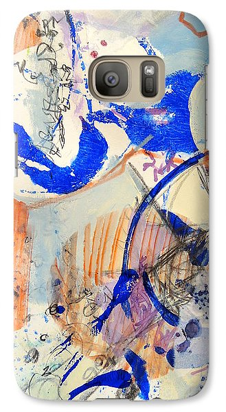 Galaxy Case featuring the mixed media Between Branches by Mary Schiros