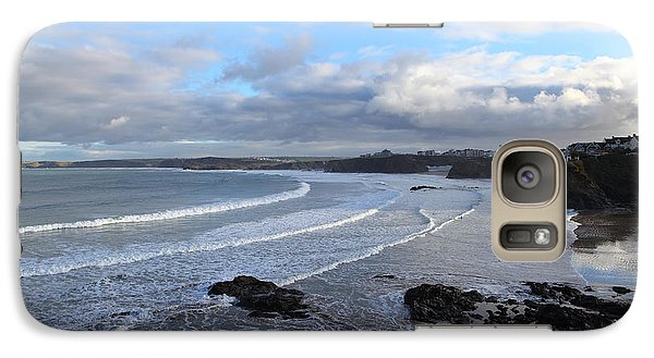 Galaxy Case featuring the photograph Between Cornish Storms 2 by Nicholas Burningham
