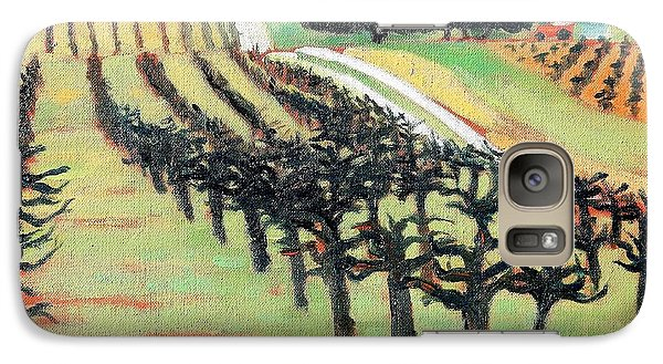 Galaxy Case featuring the painting Between Crops by Gary Coleman