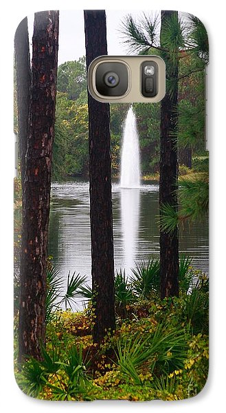 Galaxy Case featuring the photograph Between The Fountain by Lori Mellen-Pagliaro