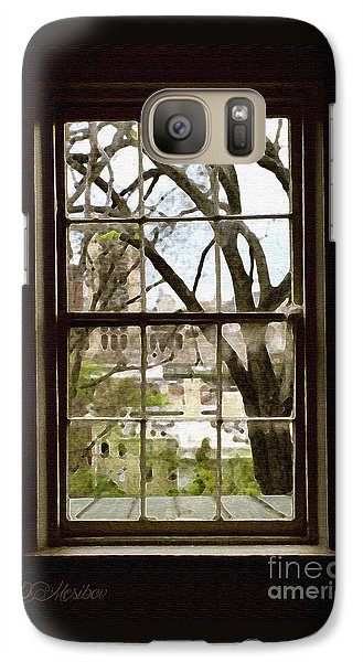 Galaxy Case featuring the photograph Beyond The Window Sill by Linda Mesibov