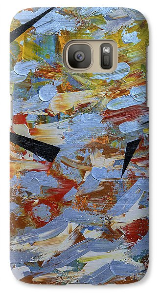 Galaxy Case featuring the painting Beyond Undulation by Theresa Kennedy DuPay