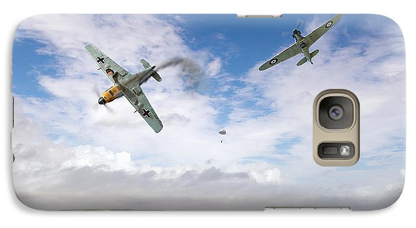 Galaxy Case featuring the photograph Bf109 Down In The Channel by Gary Eason