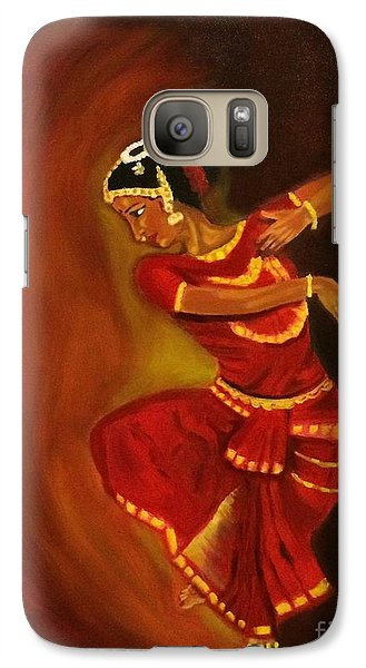Galaxy Case featuring the painting Bharatnatyam Dancer by Brindha Naveen
