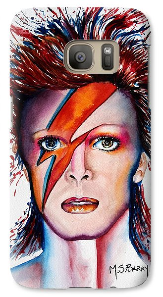 Galaxy Case featuring the painting Bi Bi Bowie by Maria Barry
