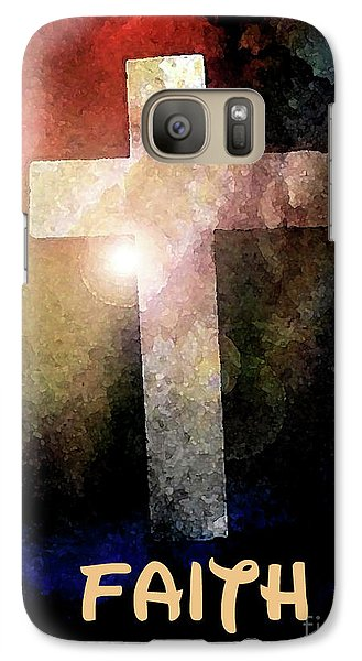 Galaxy Case featuring the painting Biblical-faith by Terry Banderas