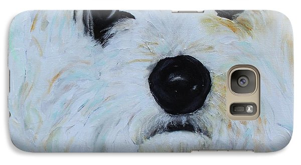 Galaxy Case featuring the painting Bichon Frise-king Charles Cavalier Spaniel Mix - Molly by Laura  Grisham