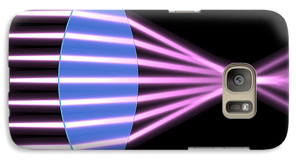 Galaxy Case featuring the digital art Biconvex Lens 2 by Russell Kightley