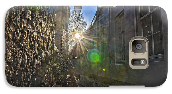 Galaxy Case featuring the photograph Bicycle Alley by Frans Blok