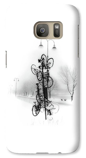 Bicycle Lamppost In Winter Galaxy S7 Case