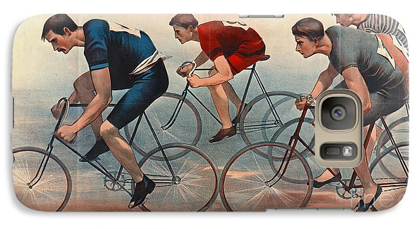 Galaxy Case featuring the photograph Bicycle Lithos Ad 1896nt by Padre Art