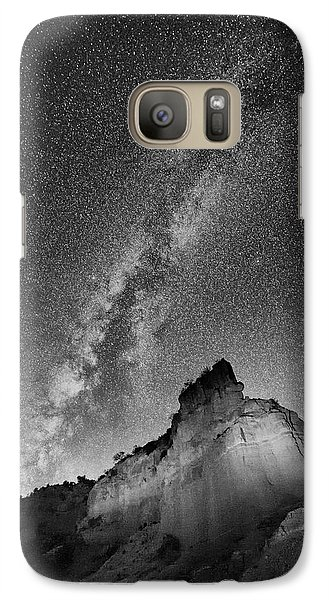 Galaxy Case featuring the photograph Big And Bright In Black And White by Stephen Stookey