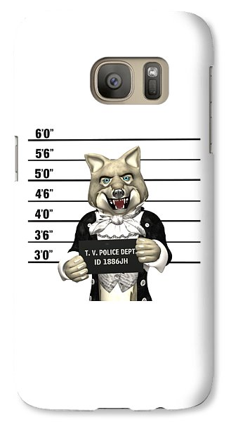 Galaxy Case featuring the digital art Big Bad Wolf Mugshot by Methune Hively