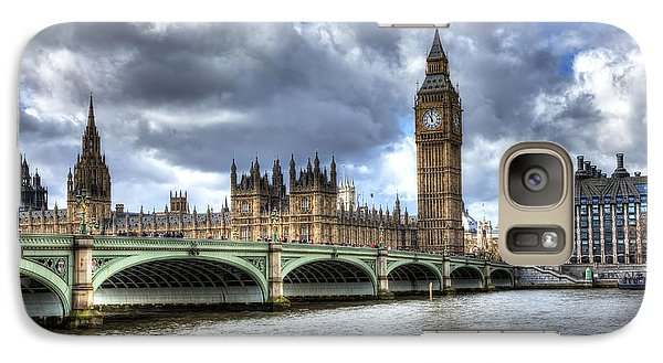 Galaxy Case featuring the photograph Big Ben And Thames by Shawn Everhart