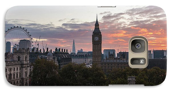 Big Ben London Sunrise Galaxy S7 Case by Mike Reid