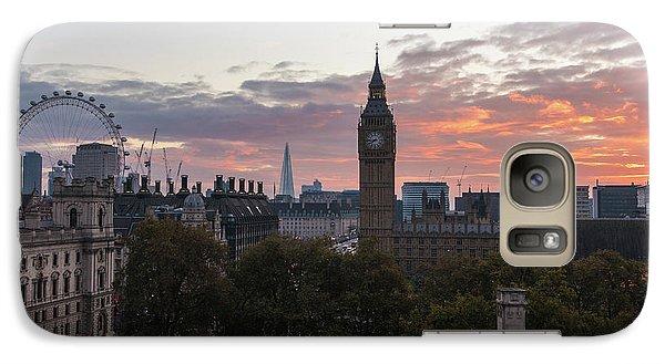 Big Ben London Sunrise Galaxy Case by Mike Reid