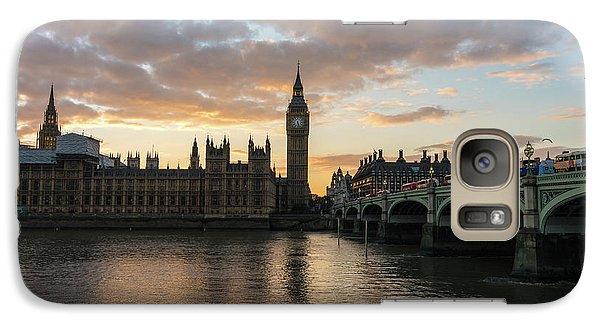 Big Ben London Sunset Galaxy S7 Case by Mike Reid