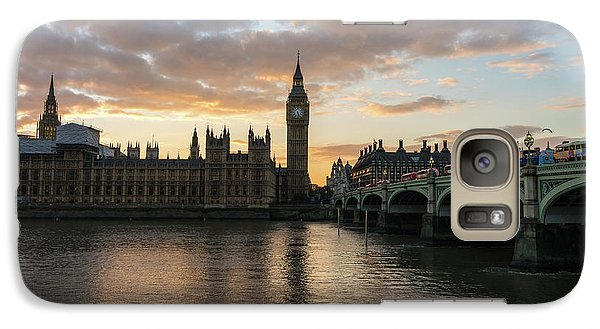 Big Ben London Sunset Galaxy Case by Mike Reid