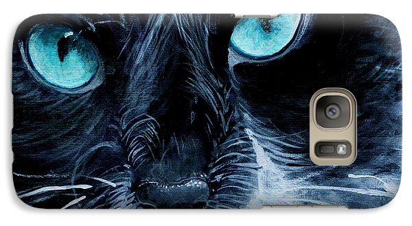 Galaxy Case featuring the painting Big Blue by Mary-Lee Sanders