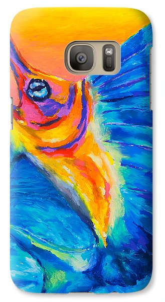 Galaxy Case featuring the painting Big Blue by Stephen Anderson