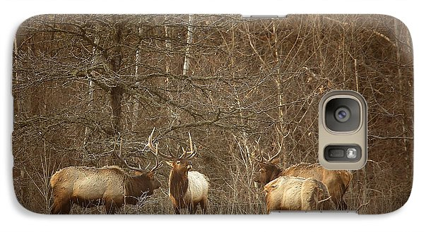 Galaxy Case featuring the photograph Big Bull Meeting In Boxley Valley by Michael Dougherty