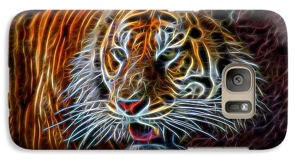 Galaxy Case featuring the digital art Big Cat by Aaron Berg
