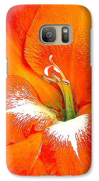 Galaxy Case featuring the photograph Big Glad In Bright Orange by ABeautifulSky Photography
