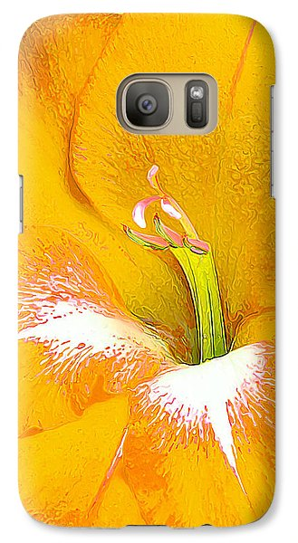 Galaxy Case featuring the photograph Big Glad In Yellow by ABeautifulSky Photography