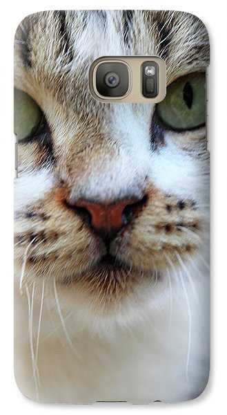 Galaxy Case featuring the photograph Big Green Eyes by Munir Alawi